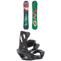 GNU B-Pro C3 Snowboard - Women's + Flux GS Snowboard Bindings - Women's