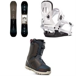 Rome Mechanic SE Snowboard + Rome Arsenal Snowboard Bindings + thirtytwo STW Boa Snowboard Boots