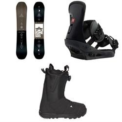 Rome Mechanic SE Snowboard + Burton Freestyle Snowboard Bindings + Moto Boa R Snowboard Boots 2018