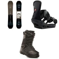 Rome Mechanic SE Snowboard + Burton Freestyle Snowboard Bindings + thirtytwo Prion Snowboard Boots
