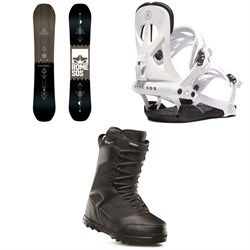 Rome Mechanic SE Snowboard + Rome Arsenal Snowboard Bindings + thirtytwo Prion Snowboard Boots