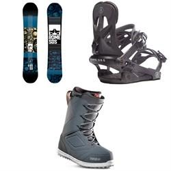 Rome Reverb Rocker SE Snowboard + Rome Arsenal Snowboard Bindings + thirtytwo Zephyr Snowboard Boots
