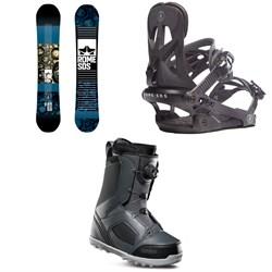 Rome Reverb Rocker SE Snowboard + Rome Arsenal Snowboard Bindings + thirtytwo STW Boa Snowboard Boots