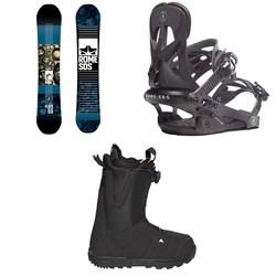 Rome Reverb Rocker SE Snowboard + Rome Arsenal Snowboard Bindings + Burton Moto Boa Snowboard Boots 2018