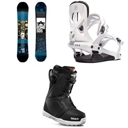 Rome Reverb Rocker SE Snowboard + Rome Arsenal Snowboard Bindings + thirtytwo Lashed Double Boa Snowboard Boots