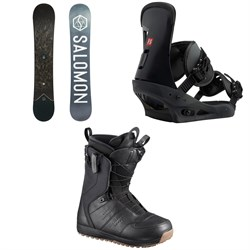 Salomon Sight X Snowboard 2020 + Burton Freestyle Snowboard Bindings 2019 + Salomon Launch Snowboard Boots 2019