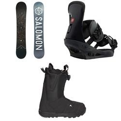 Salomon Sight X Snowboard 2020 + Burton Freestyle Snowboard Bindings 2019 + Burton Moto Boa R Snowboard Boots 2018