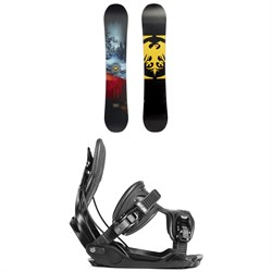 Never Summer Snowtrooper Snowboard ​+ Flow Alpha Snowboard Bindings