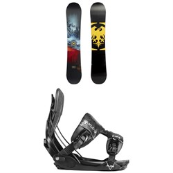 Never Summer Snowtrooper Snowboard ​+ Flow Five Fusion Snowboard Bindings