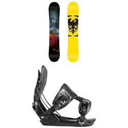 Never Summer Snowtrooper X Snowboard + Flow Five Fusion Snowboard Bindings