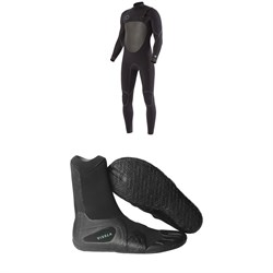 Vissla North Seas 4​/3 Chest Zip Wetsuit ​+ Vissla 7 Seas 3mm Split Toe Wetsuit Boots