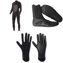 Vissla North Seas 4​/3 Chest Zip Wetsuit ​+ 7 Seas 3mm Split Toe Wetsuit Boots ​+ High Seas 1.5mm Wetsuit Gloves