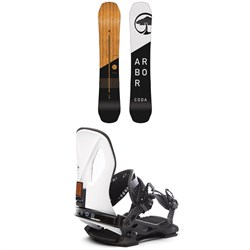Arbor Coda Rocker Snowboard 2019 + Arbor Cypress LTD Snowboard Bindings