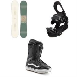 Arbor Poparazzi Camber Snowboard + Arbor Sequoia Snowboard Bindings + Vans Encore OG Snowboard Boots - Women's 2020