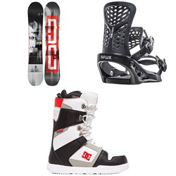 DC Ply Snowboard + Flux PR Snowboard Bindings + DC Phase Snowboard Boots 2020