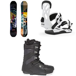 CAPiTA Indoor Survival Snowboard ​+ Union Contact Pro Snowboard Bindings ​+ DC Mutiny Snowboard Boots 2020