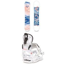 Roxy Sugar Banana Snowboard + Roxy Rock-It Dash Snowboard Bindings - Women's 2020