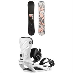 Salomon Wonder X Snowboard - Women's ​+ Salomon Rhythm Snowboard Bindings 2020