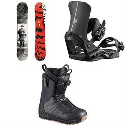 Salomon The Villain Snowboard ​+ District Snowboard Bindings ​+ Launch Boa SJ Snowboard Boots