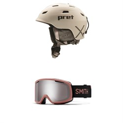 Pret Luxe X Helmet - Women's ​+ Smith Riot Goggles - Women's