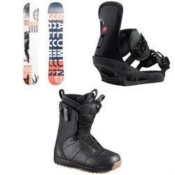 Salomon Sleepwalker X Snowboard 2020 ​+ Burton Freestyle Snowboard Bindings 2019 ​+ Salomon Launch Snowboard Boots 2019