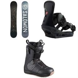 Salomon Sight X Snowboard 2020 + Burton Freestyle Snowboard Bindings 2019 + Salomon Launch Boa SJ Snowboard Boots 2019