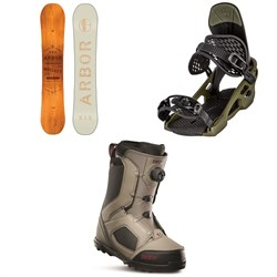 Arbor Whiskey Snowboard ​+ Arbor Spruce Snowboard Bindings ​+ thirtytwo STW Boa Snowboard Boots 2020