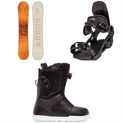 Arbor Whiskey Snowboard ​+ Arbor Spruce Snowboard Bindings ​+ DC Scout Boa Snowboard Boots 2020