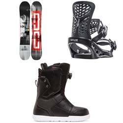 DC Ply Snowboard ​+ Flux PR Snowboard Bindings ​+ DC Scout Boa Snowboard Boots 2020