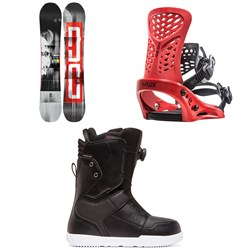 DC Ply Snowboard + Flux PR Snowboard Bindings + DC Scout Boa Snowboard Boots 2020