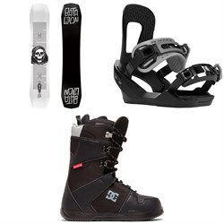 Bataleon Disaster Snowboard ​+ Switchback Destroyer Snowboard Bindings ​+ DC Phase Snowboard Boots