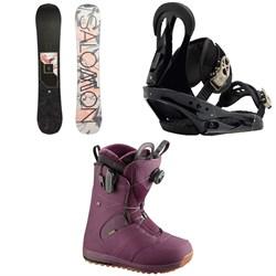 Salomon Wonder X Snowboard 2020 + Burton Citizen Snowboard Bindings 2019 + Salomon Ivy Boa Snowboard Boots - Women's 2018
