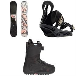 Salomon Wonder X Snowboard 2020 + Burton Citizen Snowboard Bindings 2019 + Burton Mint Boa R Snowboard Boots - Women's 2018