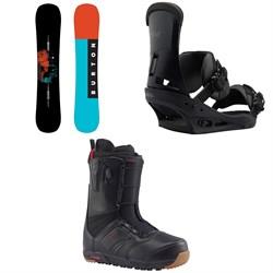 Burton Instigator Snowboard 2018 + Custom Snowboard Bindings  + Ruler Snowboard Boots 2018