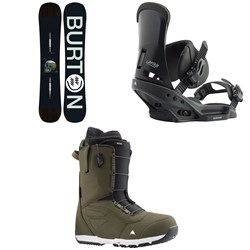Burton Instigator Snowboard + Custom EST Snowboard Bindings + Ruler Snowboard Boots 2020