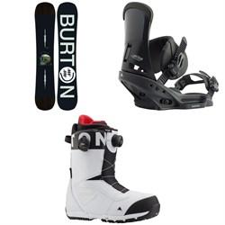 Burton Instigator Snowboard + Custom EST Snowboard Bindings + Burton Ruler Boa Snowboard Boots 2020