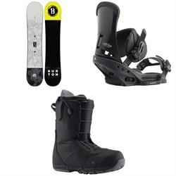 Burton Descendant Snowboard + Custom EST Snowboard Bindings + Ruler Snowboard Boots 2020