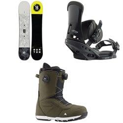 Burton Descendant Snowboard + Custom EST Snowboard Bindings + Ruler Boa Snowboard Boots 2020