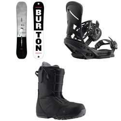 Burton Process Flying V Snowboard ​+ Mission EST Snowboard Bindings ​+ Ruler Snowboard Boots 2020