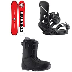 Burton Deep Thinker Snowboard ​+ Mission EST Snowboard Bindings ​+ Ruler Snowboard Boots 2020