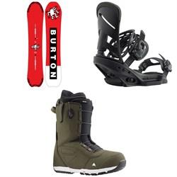 Burton Deep Thinker Snowboard + Mission EST Snowboard Bindings + Ruler Snowboard Boots 2020