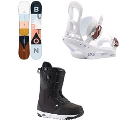 Burton Yeasayer Flying V Snowboard ​+ Stiletto Snowboard Bindings ​+ Limelight Snowboard Boots - Women's 2020