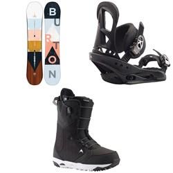 Burton Yeasayer Snowboard + Stiletto Snowboard Bindings + Limelight Snowboard Boots - Women's 2020