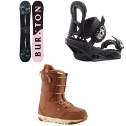 Burton Rewind Snowboard + Stiletto Snowboard Bindings + Limelight Snowboard Boots - Women's 2020