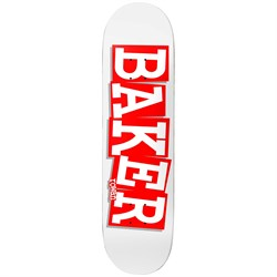 Baker RZ Ribbon Name Wht​/Red 8.125 Skateboard Deck