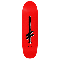 Deathwish Gang Logo Red​/Blk Shaped 9.1 Skateboard Deck