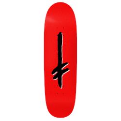 Deathwish Gang Logo Red/Blk Shaped 9.1 Skateboard Deck