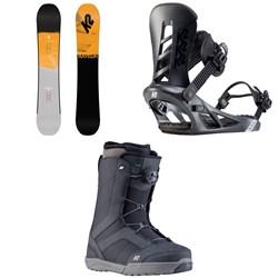K2 Raygun Pop Snowboard + Sonic Snowboard Bindings + Raider Snowboard Boots