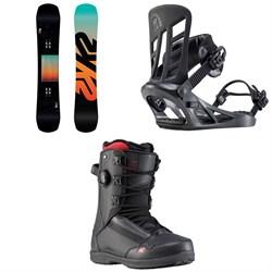 K2 Afterblack Snowboard + Indy Snowboard Bindings + Darko Snowboard Boots 2020