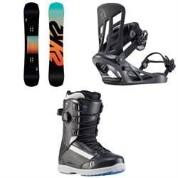 K2 Afterblack Snowboard + Indy Snowboard Bindings + Darko Snowboard Boots